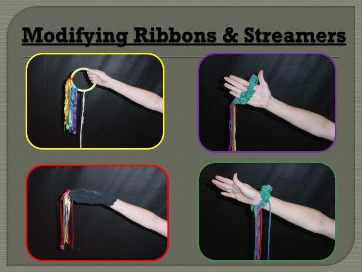 Modifying Ribbons & Streamers