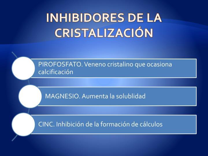 INHIBIDORES DE LA CRISTALIZACIÓN