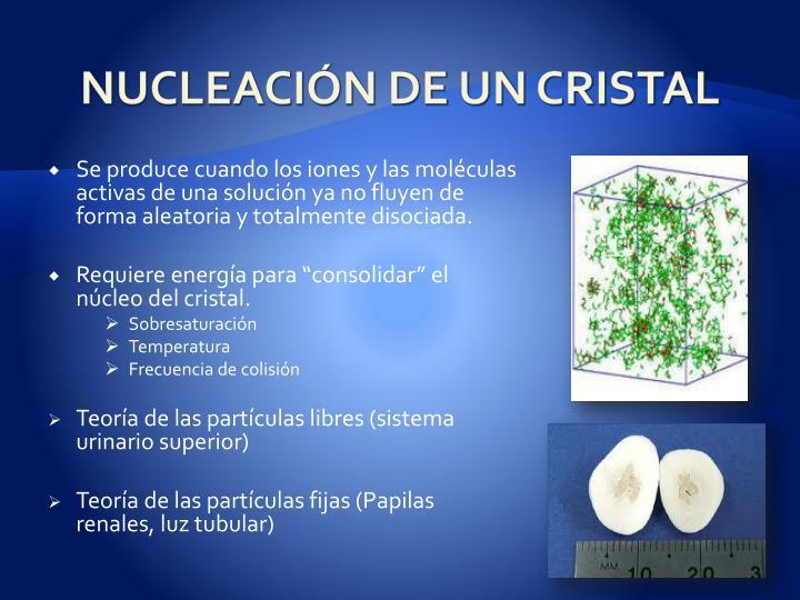 NUCLEACIÓN DE UN CRISTAL