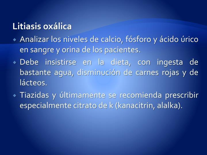 Litiasis oxálica