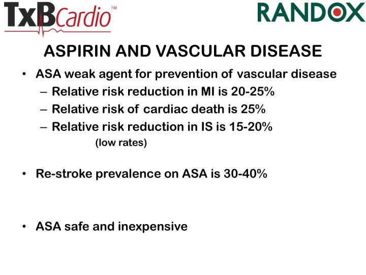 ASPIRIN AND VASCULAR DISEASE