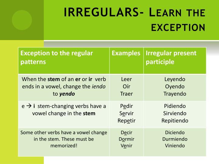 IRREGULARS-