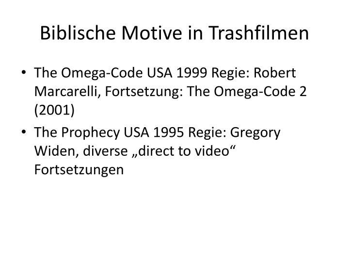 Biblische Motive in