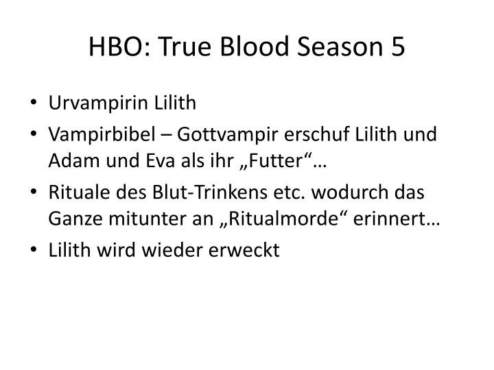 HBO: True Blood