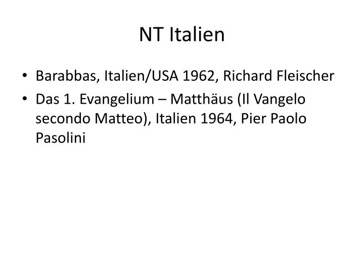NT Italien