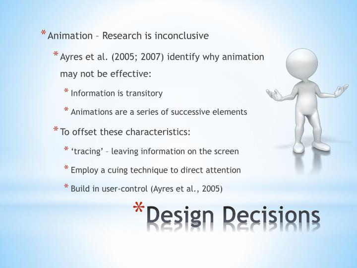 Animation – Research is inconclusive
