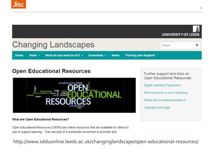 http://www.sdduonline.leeds.ac.uk/changinglandscape/open-educational-resources/
