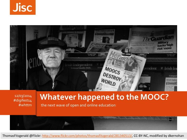 Whatever happened to the MOOC?