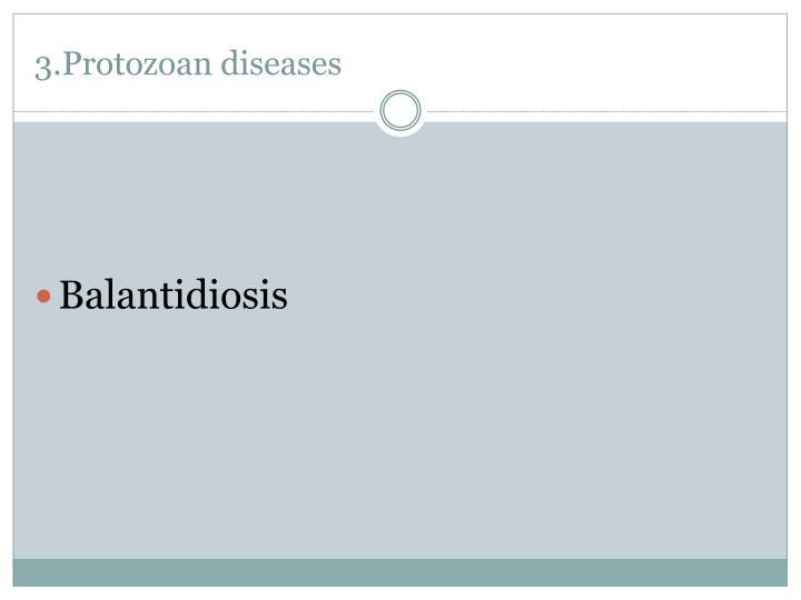 3.Protozoan diseases