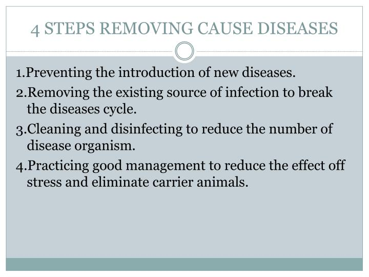 4 STEPS REMOVING CAUSE DISEASES