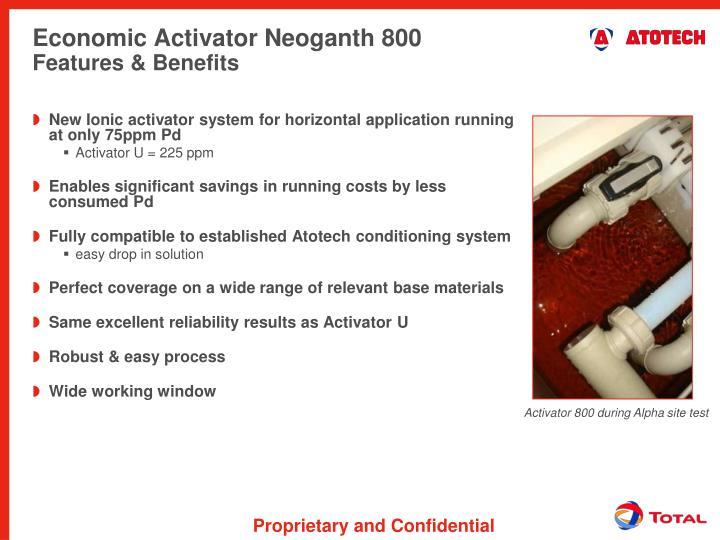 Economic Activator Neoganth 800