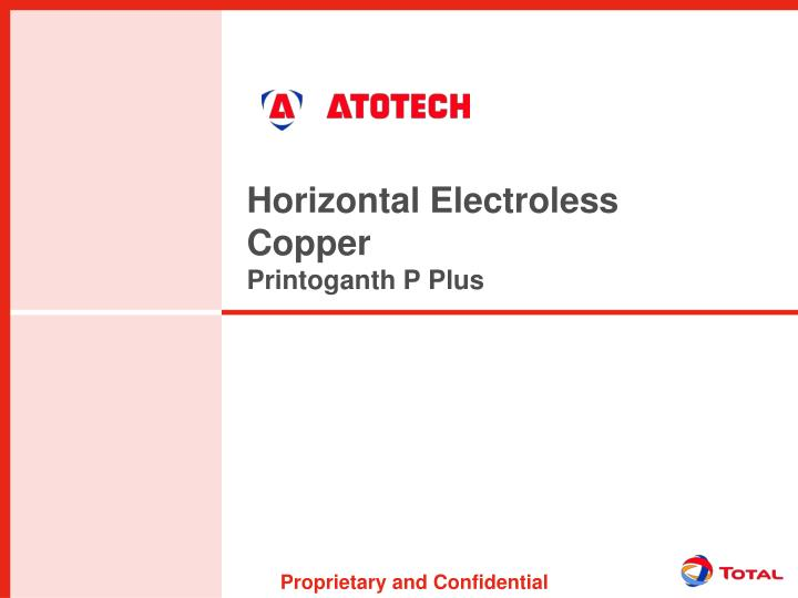 Horizontal Electroless Copper