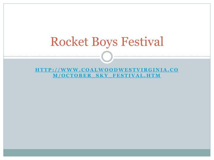 Rocket Boys Festival