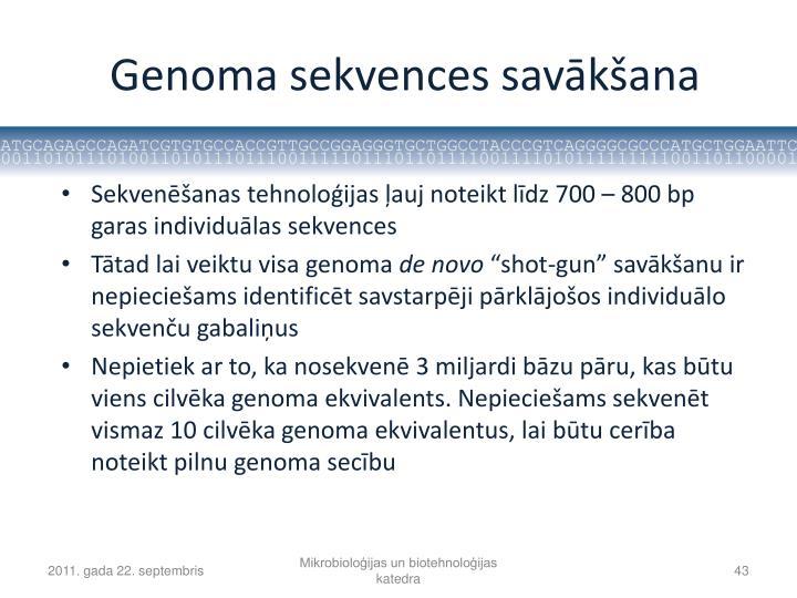Genoma sekvences savākšana