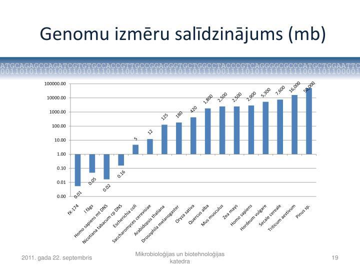 Genomu izmēru salīdzinājums (