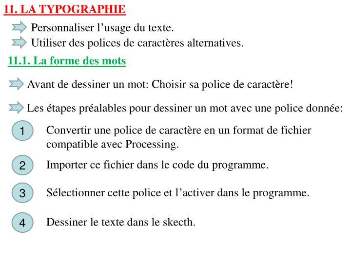 11. La typographie