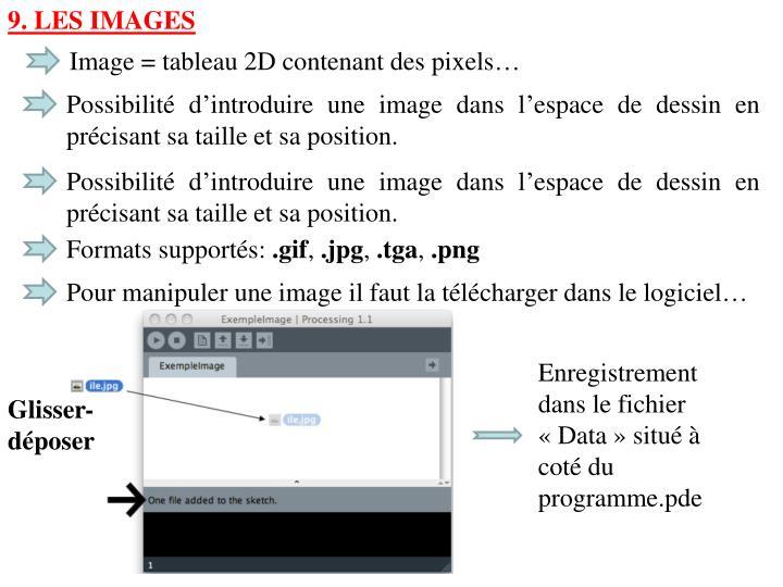 9. Les images