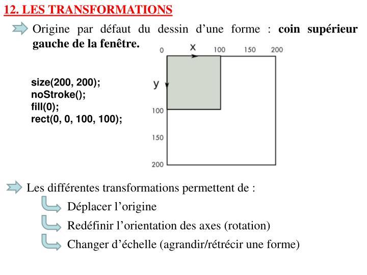12. Les Transformations