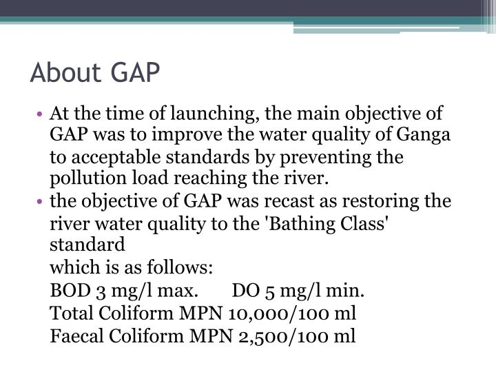 About GAP