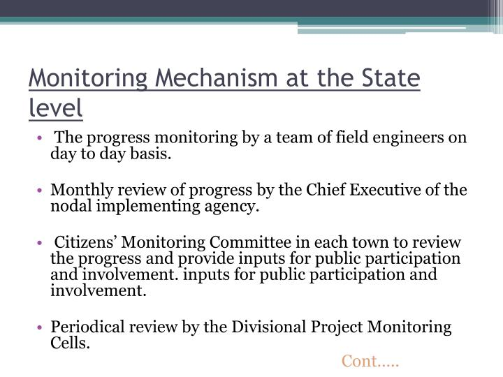 Monitoring Mechanism at the State level