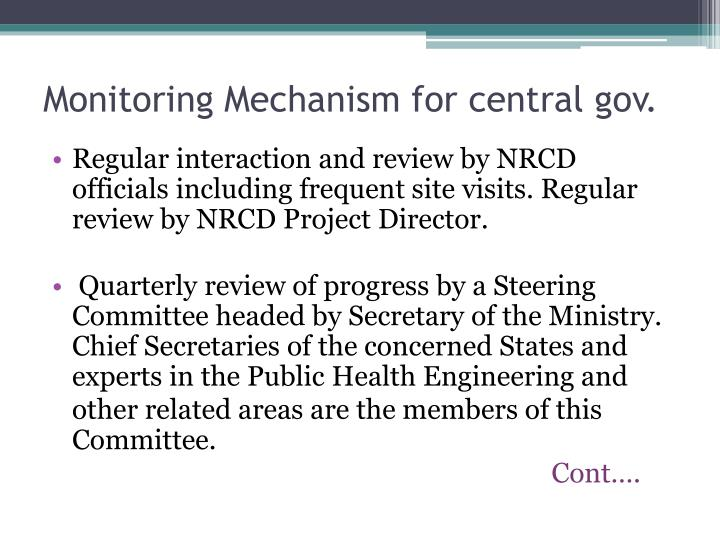 Monitoring Mechanism for central