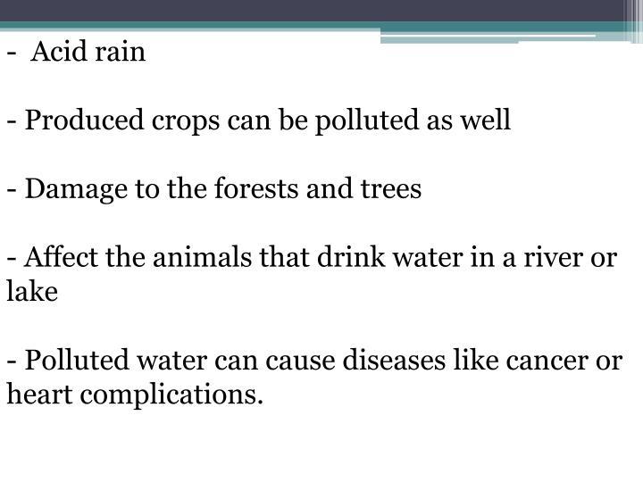 -  Acid rain
