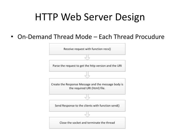 HTTP Web Server Design