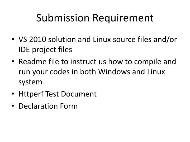 Submission Requirement