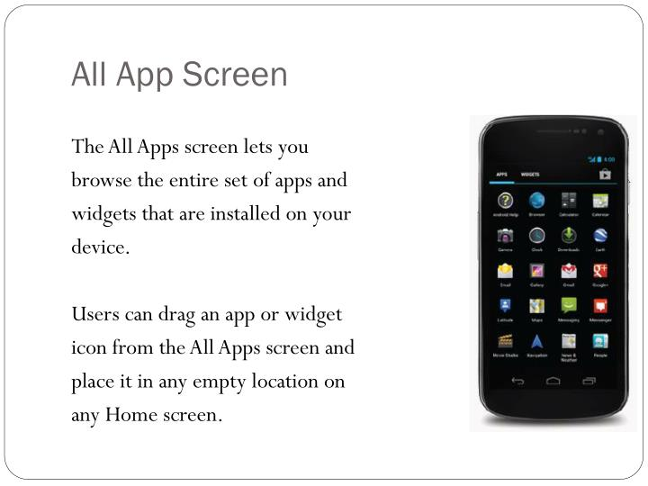 All App Screen