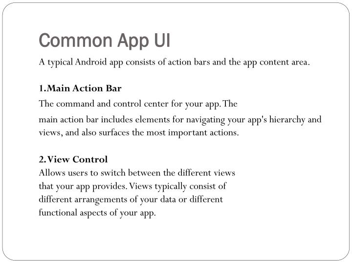 Common App UI
