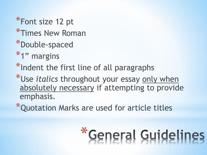 Font size 12