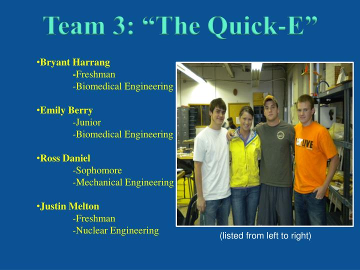 "Team 3: ""The Quick-E"""