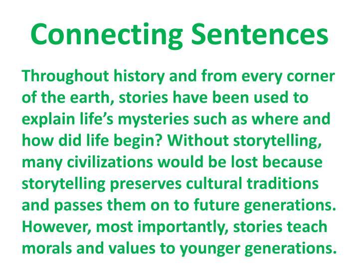 Connecting Sentences