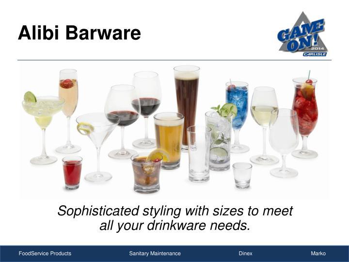 Alibi Barware