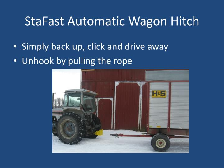 Stafast automatic wagon hitch