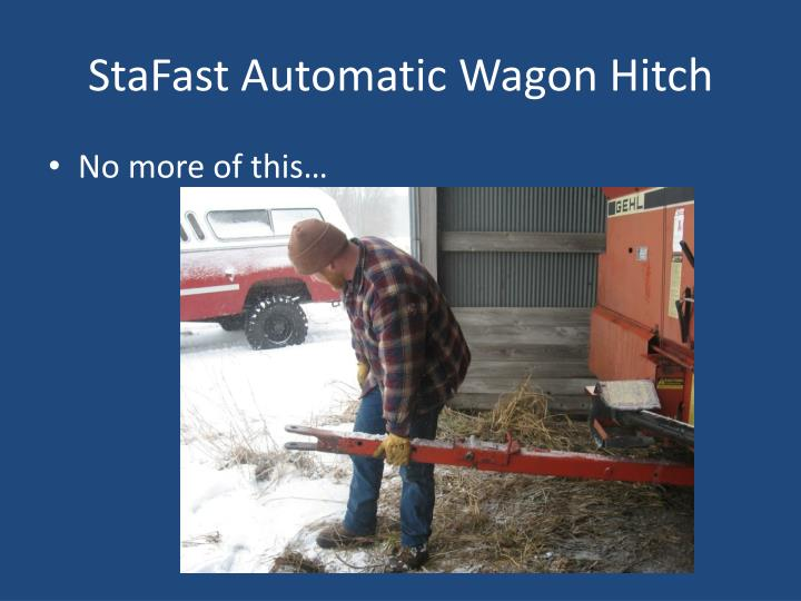 Stafast automatic wagon hitch1