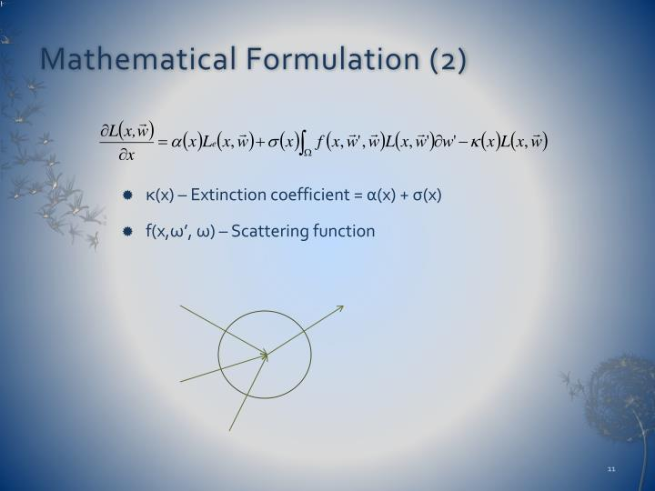 Mathematical Formulation (2)