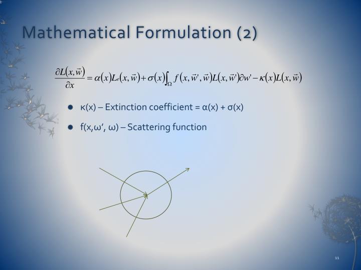 Mathematical Formulation (2)