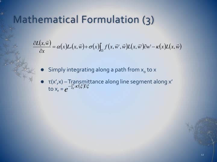Mathematical Formulation (3)