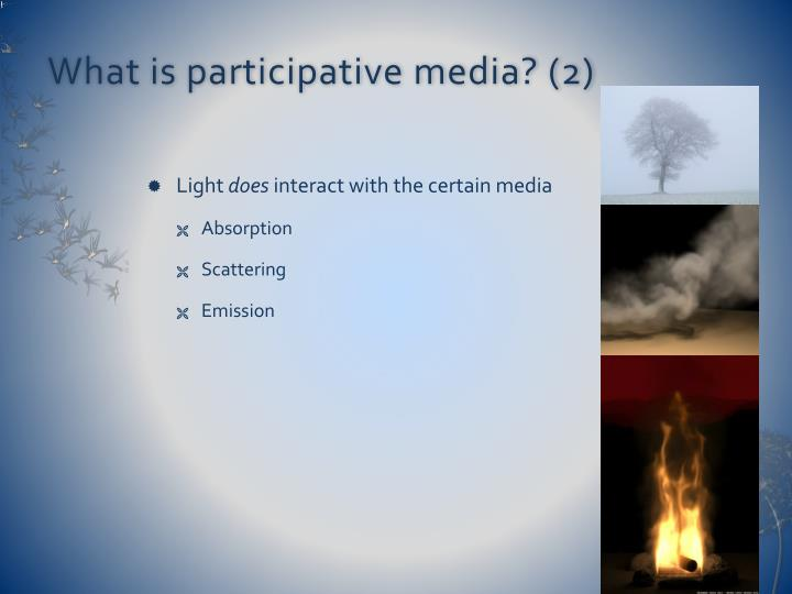What is participative media? (2)