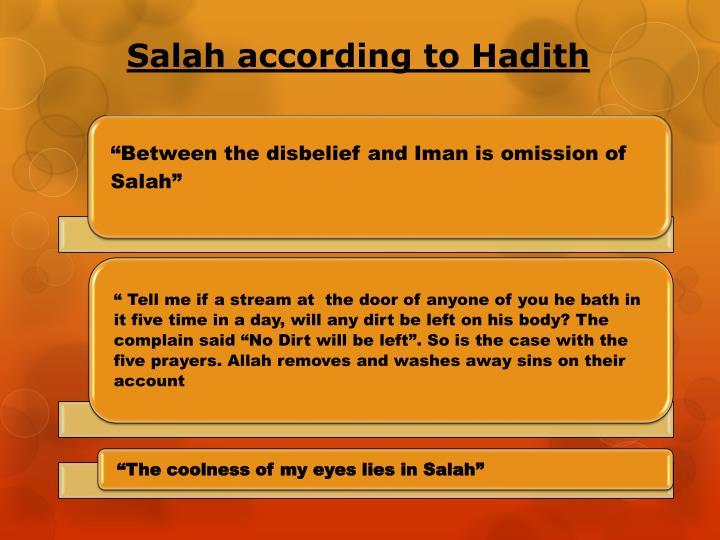 Salah according to Hadith