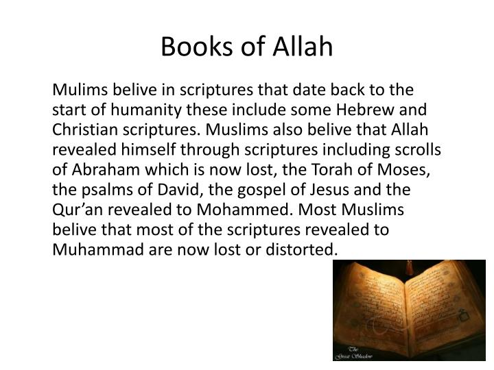 Books of Allah