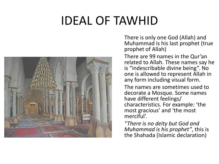 Ideal of tawhid