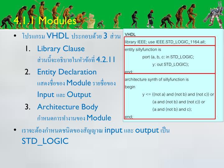 4.1.1 Modules