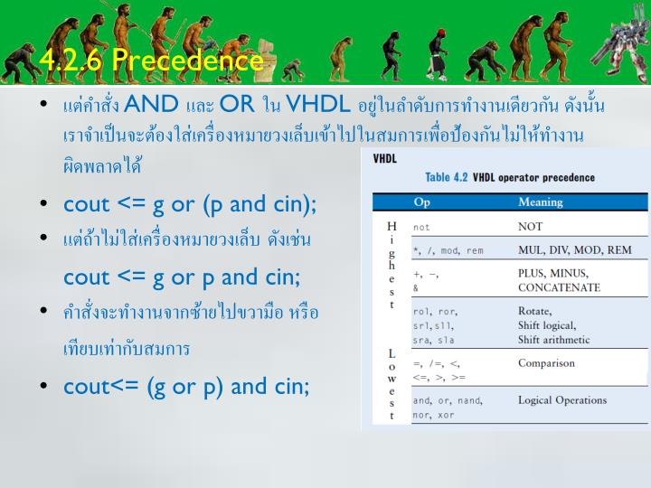4.2.6 Precedence
