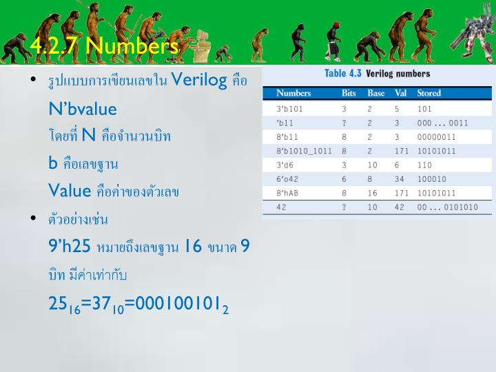 4.2.7 Numbers