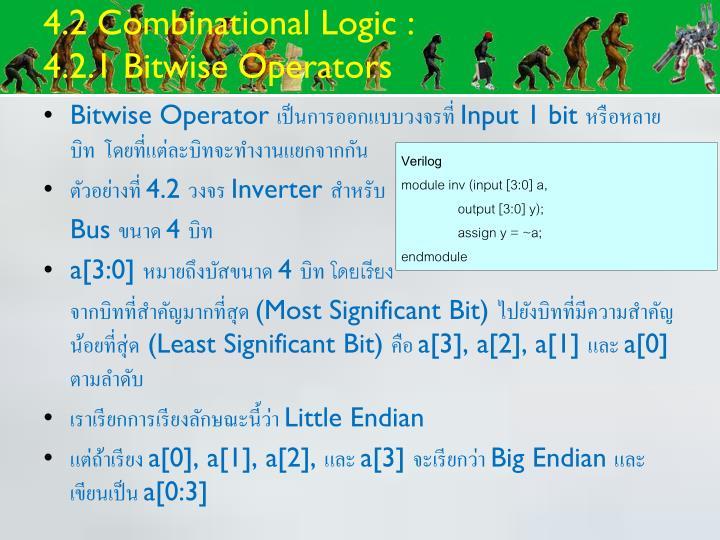 4.2 Combinational Logic :