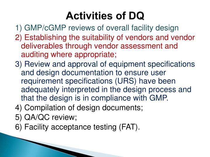 Activities of DQ