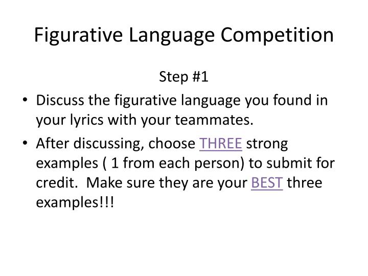 Figurative Language Competition