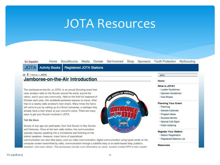 JOTA Resources